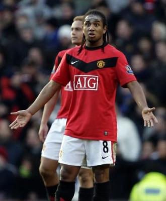 Anderson, en un partido con el Manchester United.