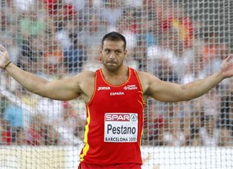 Mario Pestano despu�s de un lanzamiento