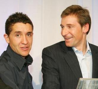 Carlos Sastre y Denis Menchov.
