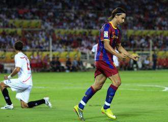 Ibrahimovic celebra su gol en el Pizju�n