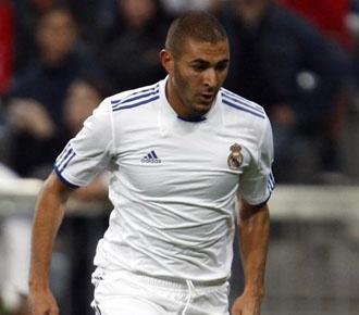 Karim Benzema en un partido amistoso con el Real Madrid en esta pretemporada.