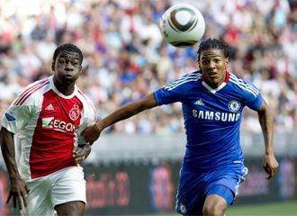 Sarpong, durante un encuentro amistoso ante el Chelsea de esta pretemporada