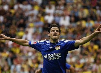 Barnetta celebra el gol marcado ante el Borussia.