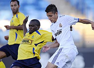 Joselu durante un amistoso con el Castilla.
