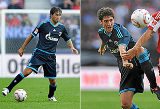 Escudero y Ra�l los espa�oles del Schalke