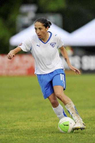 Laura del R�o durante un partido.