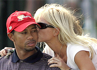 Tiger Woods y su ex mujer.