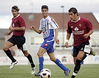 Jaun Dom�nguez, en un partido de esta pretemporada contra el Pontevedra