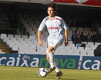 Jordi, en un partido con la camiseta del Celta