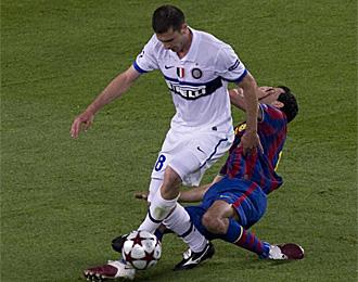 Motta, en el partido contra el Barcelona de Liga de Campeones de la temporada pasada