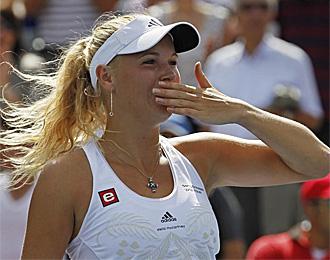 Caroline Wozniacki, celebrando su �ltimo triunfo