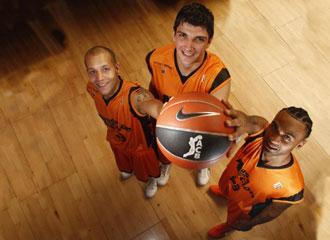 Los tres mvp del Fuenlabrada: Thomas, Batista y Fitch