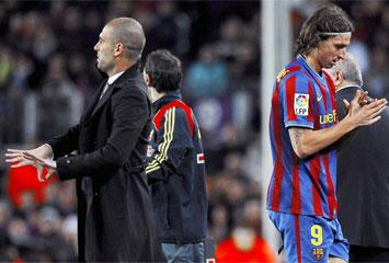 Ibra y Guardiola