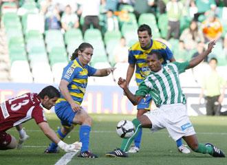 Mehmet aurelio durante un encuentro del Betis de la temporada pasada