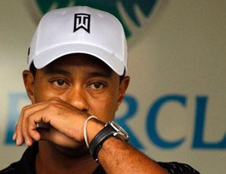 Tiger Woods emotivo durante la rueda de prensa