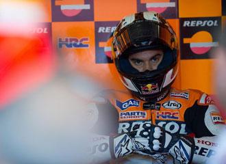 Dani Pedrosa durante el test de Brno