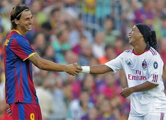 Ibrahimovic y Ronaldinho podr�an ser compa�eros la pr�xima temporada.