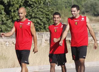 Edson Ramos, Joao V�ctor y Nunes entrenan juntos con el Mallorca