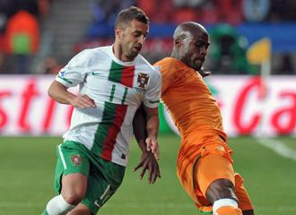 Simao con la selecci�n de Portugal durante el pasado Mundial.