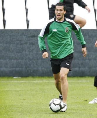 Luis García, en un entrenamiento