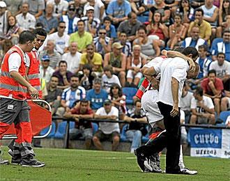Toquero se retira lesionado en el partido contra el H�rcules
