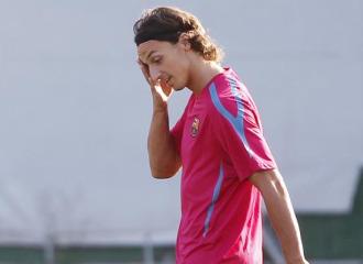 Ibrahimovic, en un entrenamiento.