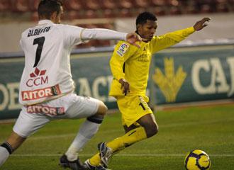 Quintero en un partido de la temporada pasada con el Cartagena