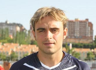 Héctor Font durante su etapa con el Valladolid.