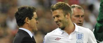 Capello y Beckham