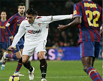 Duscher, en un partido contra el Barcelona