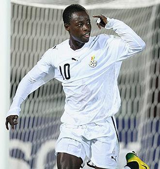 Ransford Osei, en un partido con su selección.