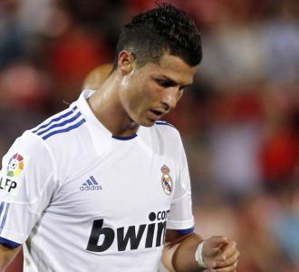 Cristiano Ronaldo, durante el partido ante el Mallorca.