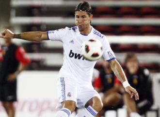 Sergio Ramos, en el partido ante el Mallorca.