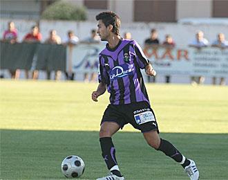 Alberto Bueno, en un partido con el Valladolid