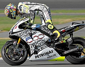 Rossi, en el Gran Premio de Indiniapolis