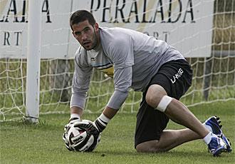 Codina, durante un entrenamiento del Espanyol.