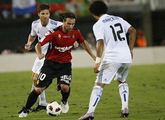 Cavenaghi debut� el otro pasado domingo contra el Real Madrid