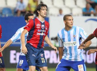 Santiago Solari, durante un encuentro ante el M�laga con la camiseta del Atlante.