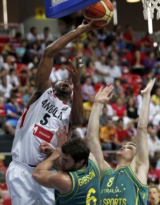 Angola no fue rival para Australia