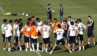 Mourinho s�lo cont� con cinco jugadores del primer equipo este s�bado en Valdebebas.