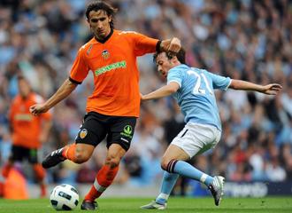 Topal en el partido amistoso contra el City.