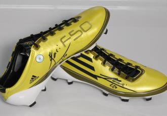 Las botas de Leo Messi, una aut�ntica joya de coleccionista
