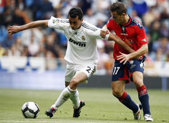 Camu�as en un partido de la temporada pasada contra el Real Madrid