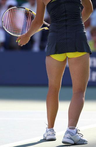 Caroline durante un partido del US Open