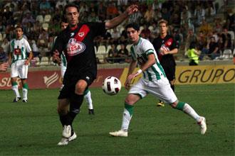 Lance del partido entre el C�rdoba y el Rayo Vallecano