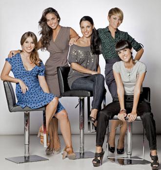 De izq. a drcha.: Ana Cobos, Lara Álvarez, Carolina Bueno, Marina Palmero y Alba Lago.