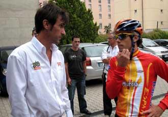 Freire charla con el seleccionador espa�ol