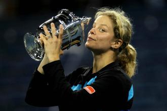 Clijsters con el trofeo del US Open