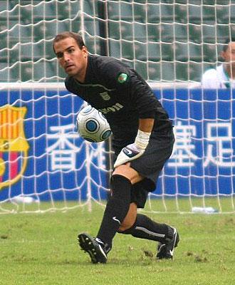 Sergio Aure, durante un partido, en una imagen de archivo