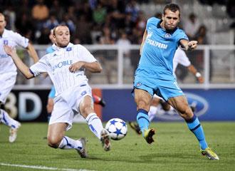 El Auxerre elimin� al Zenit en la fase previa de la Champions